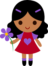 a holding a flower clipart clipartxtras
