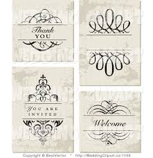 wedding invitations vector vector marriage clipart of a wedding set of distressed wedding