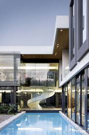 interior best modern mansion ideas with glass wall and stairs