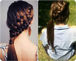 hair braided into pony tail 7 easy and chic ponytail hairstyle for girls back to school