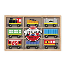 melissa and doug train table and set wooden train cars melissa and doug