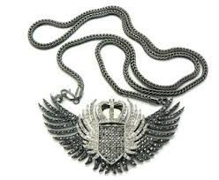 hip hop jewelry necklace images Bird wings silver hip hop jewelry bling bling iced out diamond jpg