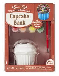 amazon com melissa u0026 doug decorate your own cupcake bank craft