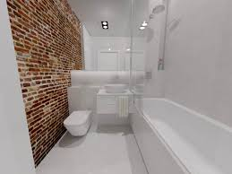Modern Brick Wall by Modern Bathroom With Red Brick Wall Nowoczesna łazienka Ze
