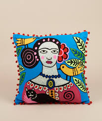 day of the dead home decor trouva ian snow square day of the dead frida kahlo cushion