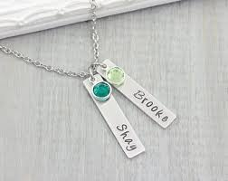 Mothers Necklace With Initials Mom Necklace Etsy