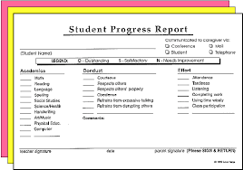 academic progress report template helps student progress report forms d2