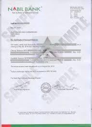 clearance certificate sample bank balance certificate kiec