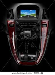 Brown Car Interior Car Dashboard Steering Wheel Interior Prestige Stock Photo