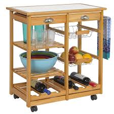 Kitchen Islands Com by Amazon Com Best Choice Products Wood Kitchen Storage Cart Dining