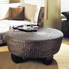 attractive round wicker ottoman coffee table u2013 interiorvues