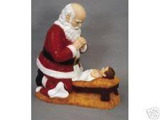 santa kneeling at the manger kneeling santa ebay
