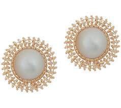 pearl stud earrings imperial gold cultured mabe pearl stud earrings 14k gold page 1
