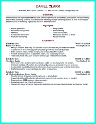 Sample Resume Of Data Entry Clerk by Your Data Entry Resume Is The Essential Marketing Key To Get The