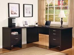 L Shaped Desks For Home Office Bush Saratoga L Shape Executive Desk In Harvest Cherry Home