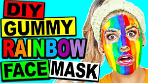 diy gummy edible rainbow face mask youtube
