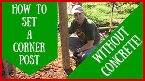 how to set a corner post without concrete youtube