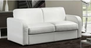 canape cuir blanc convertible acheter canapé convertible en lit sur univers du cuir