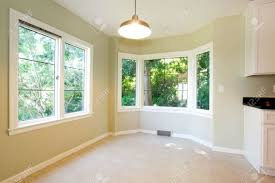 dining room tile bright empty dining room interior with tile floor and round corner