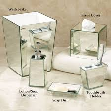 Glass Bathroom Accessories Sets Crystal Mirror Bath Accessories Home Bath Bath Accessories Tsc