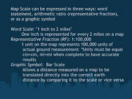 distance between two points map scale ratio of the distance between two points on a map and the