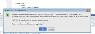 apk extract install failed no matching abis when install apk android lad ohm