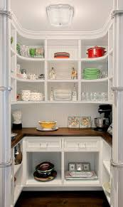 kitchen pantry w curved shelves traditional kitchen chicago