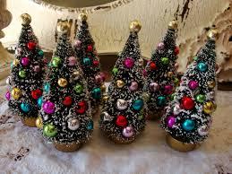 bottle brush trees 41 2 flocked christmas trees with
