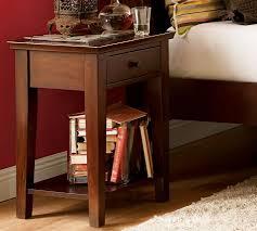 Bed Side Desk Valencia Rectangular Bedside Table Pottery Barn