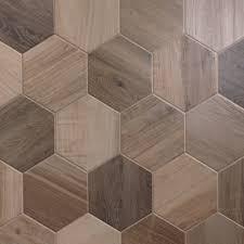 wood tile porcelain hexagon 8 inch wood look tile nut