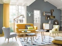 maison de canapé canapé vintage 2 3 places iceberg en tissu jaune canapé maisons