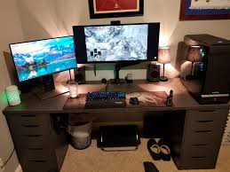 two screen computer desk top 77 divine massive computer desk two screen gaming ideas reddit
