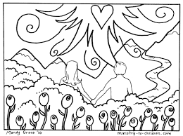 adam and eve in the garden of eden coloring pages eson me