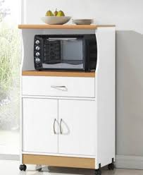 Furniture Kitchen Amazon Com Hodedah Microwave Cart With One Drawer Two Doors