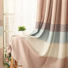 Striped Living Room Curtains by Modern And Home Striped Polyester Living Room Curtains In Multi