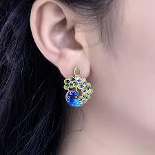 thailand earrings china peacock designer earrings china peacock designer earrings