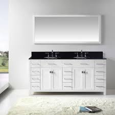 72 caroline parkway bathroom vanity in white with black