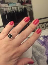acrylic nail overlay with gel polish perfect shape and length yelp