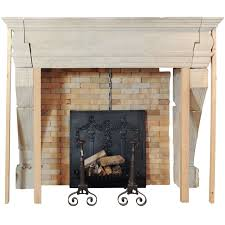 a large 17th century french limestone castle fireplace mantel