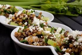 emmer lentil and celery salad with lemon cumin dressing the