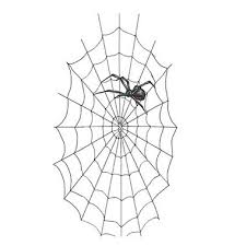 nice and simple black widow tattoo design stencil golfian com