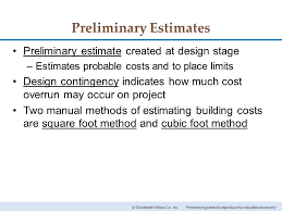 estimating building costs 35 estimating building costs chapter permission granted to reproduce