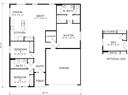 Single Level Homes 2 Bedroom Ranch Floor Plans Inspirations And Single Story Small