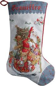 bucilla world santa cross stitch kit