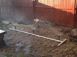 cheap pvc water sprinkler my desert garden pinterest water