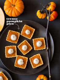 a wee halloween party recipe pumpkin pies pies and squares