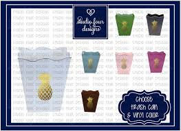 pineapple decor metal trash can assorted colors available
