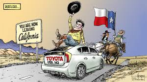 toyota na toyota exit from torrance inflames texas california rivalry la times