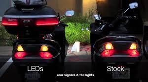 led lights vs regular lights rear signals tail lights leds vs stock bulbs youtube