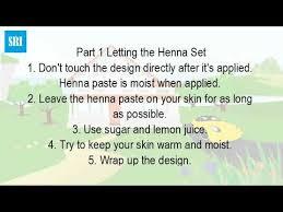 how do you take care of a henna tattoo youtube